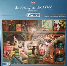 GIBSONS 1000 PIECE JIGSAW - SNOOZING IN THE SHED