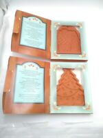 (2) Fox Run Country Cupboard Gingerbread House Cookie and Craft Mold Terra Cotta
