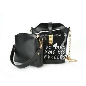 Women Transparent PVC Clear Alphabet Jelly Bag Tote Casual Handbag Messenger bag