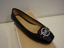 NIB Women Michael Kors Fulton Moc Saffiano Leather Flat Shoes Black size 9.5