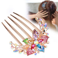 Fashion Crystal Rhinestone Flower Hair Comb Headwear Accessories Wild Disk Hair