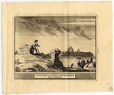 Antique Print-HEEMSKERK-OUD HAARLEM-ASSUMBURG-NETHERLAND-Schijnvoet-Roghman-1754