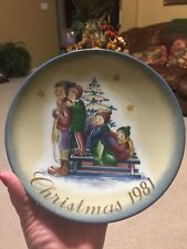 """Christmas 1981 Collector Plate By Berta Hummel Titled """"A Time To Remember�"""