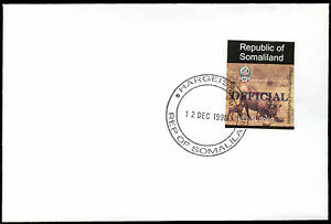 Somaliland 1998 Warthog, Official Imperf Blue Overprint, Cover #C33732
