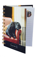 Quality Labrador Black Puppy Asleep Dog Hardcover Lined Notebook A6 Perfect Gift
