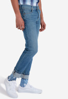 Mens Wrangler Larston tapered stretch slim fit jeans 'Blue' FACTORY SECONDS W155