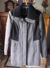 NWT NICOLE MILLER COLORBLOCK BLACK & TWEED WOOL BLEND COAT ~WOMEN'S SZ M ~$280