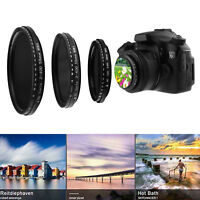 49mm-58mm Slim Fader Adjustable Variable Neutral Density Filter ND2 to ND400