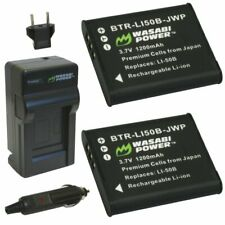 Wasabi Power Battery (2-Pack) and Charger for Ricoh DB-100