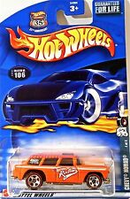 Hot Wheels 106 Chevy Nomad, 2002 Red Line Tire 4/4, Variant Card and Cars Mint