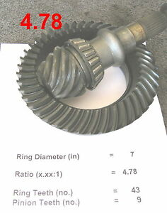 """Honda S2000 Mazda RX-7 LSD *4.78* Differential Racing 7"""" Ring and Pinion Gear"""