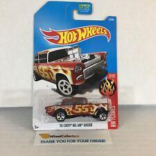 #8  '55 Chevy Bel Air Gasser #12 * RED * 2017 Hot Wheels * NC17