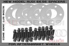 4X 5mm Hub Centric Wheel Spacers 66.56 | 5x112 | Ext. 14x1.5 Cone Seat Lug Bolts
