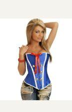 Sailor Captain Corset Fancy Dress Costume Small 8-10