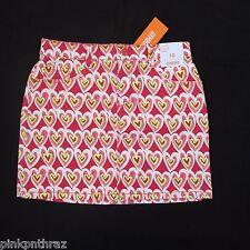 NEW Gymboree Scribble Heart Skirt Valentine's Day Girls Sz 10 Pink Red Skort
