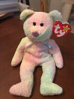 TY Beanie Baby GROOVY bear with Tag ERRORS Tush Tag Clean For Collector Korean