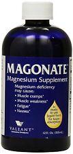MAGONATE Liquid Magnesium Supplement for Muscle Cramps 12oz  PHARMACY FRESH!
