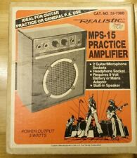 Vintage 1980's Realistic MPS-15 Guitar Amp - In original box, Priced £27.95.