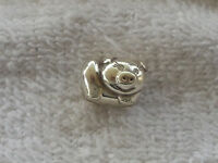 "BRIGHTON ""OINK"" PIGGY BEAD SILVER PLATED/CLEAR CRYSTALS  NWOT"