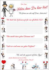Drôle Jeu de mariage - 55 Cartes postales avec Demander à Thème Bonheur conjugal