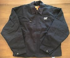 Caterpillar Work Jacket - 100% Duck Cloth Cotton - Black - CAT Logo