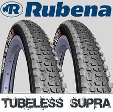 Pair of 29 X 2.25 RUBENA Dual Compound Tubeless Ready Mountain Bike Tyres MTB