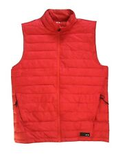 Oakley Lightweight Down Quilted Red Puffer Vest Men's Size L