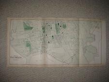 Huge Antique 1873 Flushing Queens New York Handcolored Map W Orphan Asylum Rare
