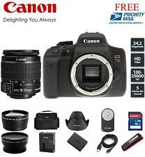 Canon EOS Rebel T6i / 750D Digital Camera EF-S 18-55mm IS Lens (3 LENSES) #999