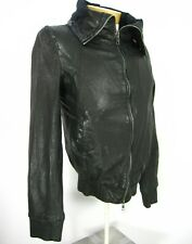 ALL SAINTS SPITALFIELDS JACKS PLACE BLACK LEATHER LUX MEN JACKET SZ S SMALL 257