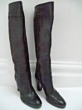 MICHAEL KORS COLLECTION black leather knee high boots size 8 WORN TWICE