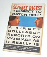 "Vintage ""Science Digest"" Magazine February 1964~Kinsey~SST Planes Great Article"