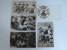 Antique RPPC of Los Angeles No.5 Fire Department c.1910 5 Postcards Rare