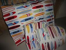 TOMMY HILFIGER SURF'S UP SURFBOARDS RED BLUE YELLOW  (3PC) TWIN SHEET SET
