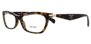 Prada VPR 15P 2AU-1O1 Eyeglasses Frames Glasses Brown Tortoise 53-16-135