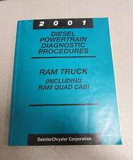2001 Dodge Ram Truck Quad Cab Diesel Powertrain Diagnostic Procedures Manual