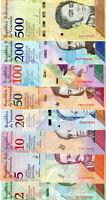Venezuela-Venezuela(2,5,10,20,50,100,200,500) Bolivares set 8 Banknoten 2018 UNC