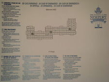 Plan original Hotel Disney Newport Bay Club - 4 ABC - DISNEYLAND Paris NEUF