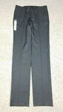NEW Haggar Men's Slim Performance Slacks Wrinkle Free Heather Gray Pants 34x38