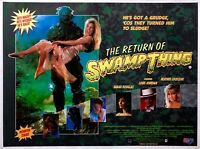 """THE RETURN OF THE SWAMP THING Repro cinema UK QUAD 30X40"""" poster 80S HORROR"""