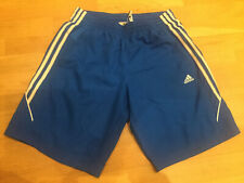 Men's Blue Adidas Climalite Football Sports Casual Shorts Size Small Running Gym