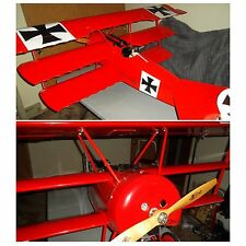 """Fokker DR1 Triplane Red Baron WW1 71"""" RC German Plane Excellent Pickup Only!"""
