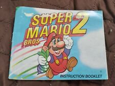 Super Mario Bros 2 Nintendo NES Instruction manual / booklet only