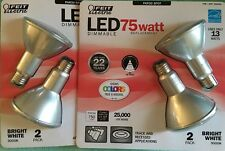 Feit Electric LED PAR30 Spot Bulbs - 75 Watt Replacement - 4 Bulbs - uses 13W
