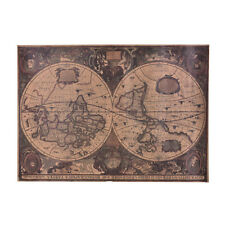 72X51Cm Retro Vintage Globe Old World Map Matte Brown Paper Poster Home Decor KW