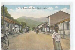 Postcard Sri Lanka, Ceylon, Kandy, Trincomalie Street