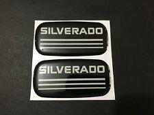 2x New Custom Epoxy Resin Silverado Emblem Pillar Cab Badge