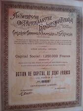 SUPERBE ACTION BELGIQUE ANTWERPSCHE OOST-AFRIKAANSCHE HANDELSMAATSCHAPPIJ  1899