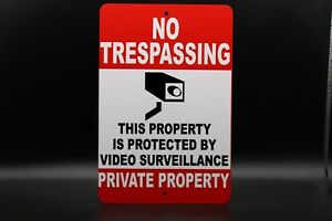 No Tresspassing - Private Property Sign 8x12