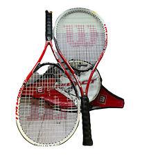 New listing Lot Of 2 Wilson Impact Titanium Power Bridge Tennis Rackets With Covers